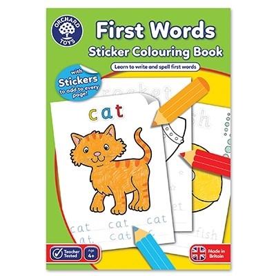 Carte de colorat cu abtibilduri Primele cuvinte / FIRST WORDS [3]