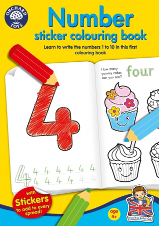 Carte de colorat cu activitati Invata numerele / NUMBER [1]