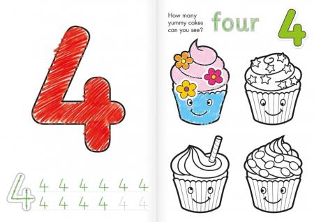 Carte de colorat cu activitati Invata numerele / NUMBER [3]
