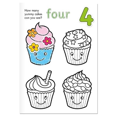 Carte de colorat cu activitati Invata numerele / NUMBER [6]