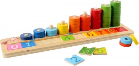"""Joc educativ Numaratoare cu inele colorate / Calculation table """"Wooden Rings"""" [0]"""