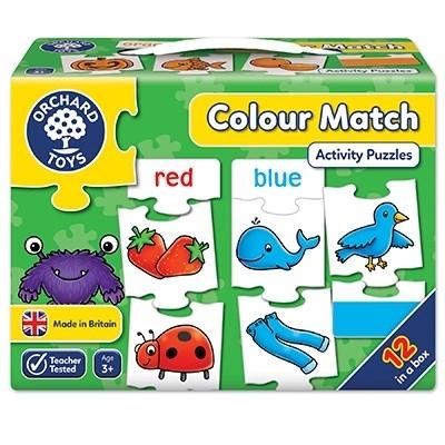 Joc educativ - puzzle in limba engleza Invata culorile prin asociere COLOUR MATCH [3]