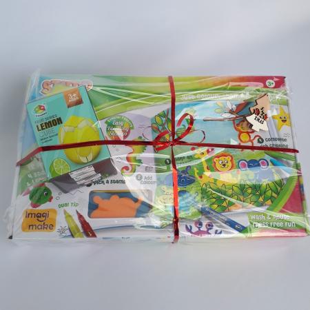 Cadou 3-5 ANI - Set Creativ cu stampile + Cub Rubik Lamaie [1]