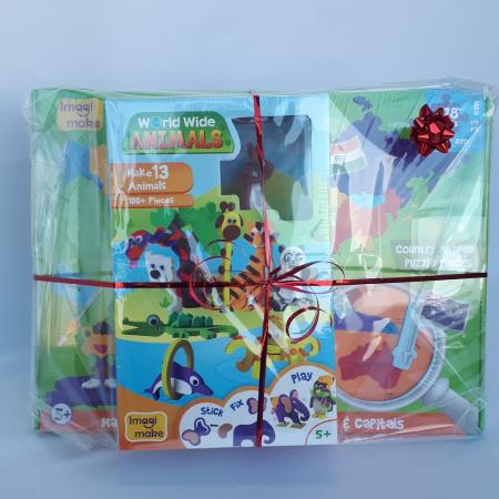 Cadou 8-14 ANI - Puzzle Harta lumii cu steaguri si capitale + Puzzle 3D Animale [1]