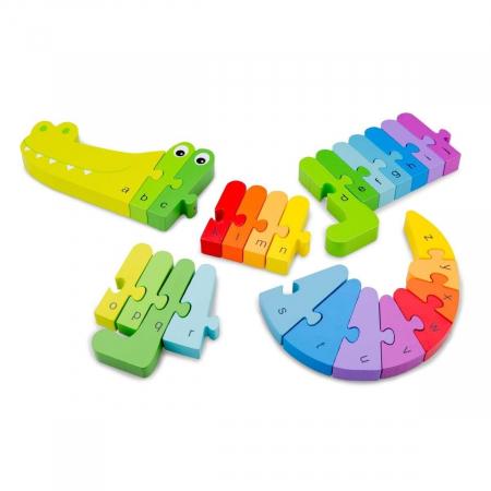 Puzzle Alfabet - Crocodil [2]