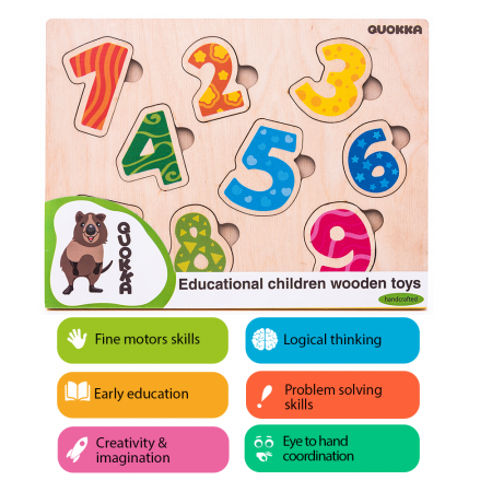 Puzzle Cifre - jucarie educativa Quokka [2]