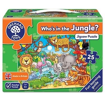 Puzzle cu activitati Cine este in jungla? WHO'S IN THE JUNGLE? [0]