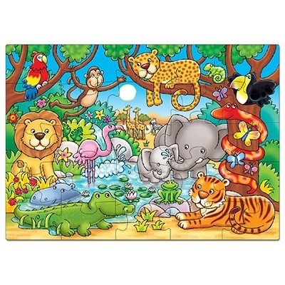 Puzzle cu activitati Cine este in jungla? WHO'S IN THE JUNGLE? [1]