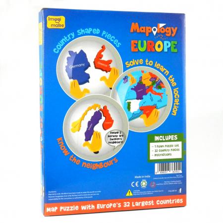 Pachet Puzzle educativ din spuma: Harta Lumii + Harta Europei - Imagimake [5]
