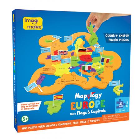 Puzzle educativ din spuma EVA - Harta Europei - steaguri si capitale [0]
