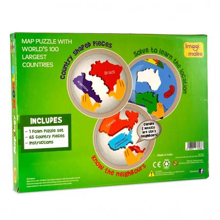 Pachet Puzzle educativ din spuma: Harta Lumii + Harta Europei - Imagimake [4]