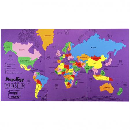 Pachet Puzzle educativ din spuma: Harta Lumii + Harta Europei - Imagimake [6]