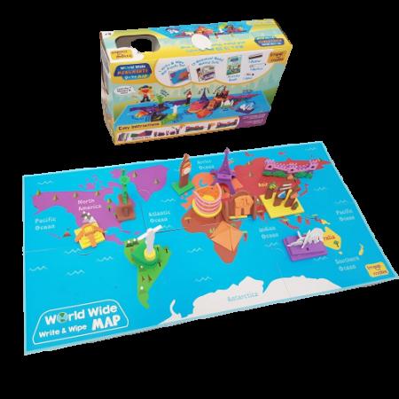 Puzzle educativ Harta lumii - Monumente - din spuma Eva [2]