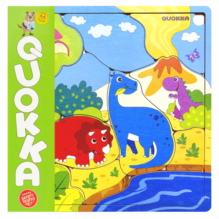 "Puzzle ""Familie Dinozauri"" - jucarie educativa Quokka [0]"
