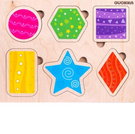 Puzzle Forme geometrice - jucarie educativa Quokka [1]