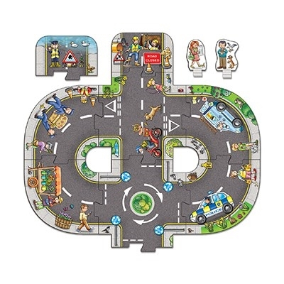 Puzzle gigant de podea Intersectii (10 piese) GIANT ROAD EXPANSION PACK JUNCTION [1]