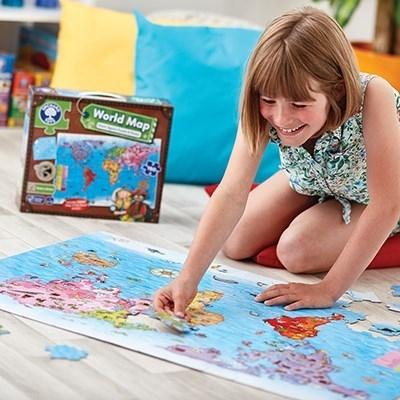 Puzzle si poster Harta lumii (limba engleza 150 piese) WORLD MAP PUZZLE & POSTER [7]