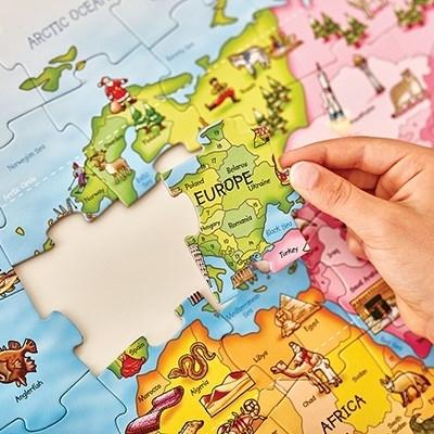 Puzzle si poster Harta lumii (limba engleza 150 piese) WORLD MAP PUZZLE & POSTER [9]