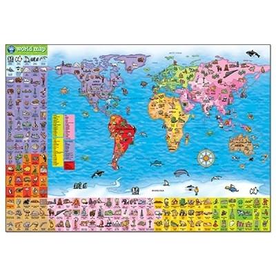 Puzzle si poster Harta lumii (limba engleza 150 piese) WORLD MAP PUZZLE & POSTER [4]
