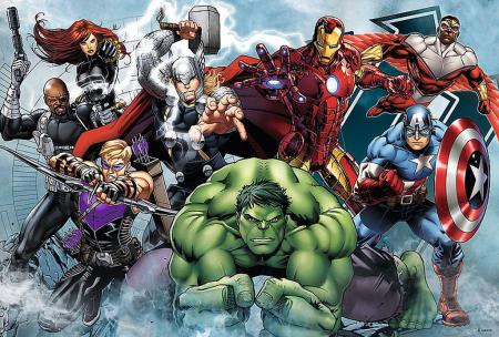 Puzzle Trefl 100 Incepe atacul Marvel [1]