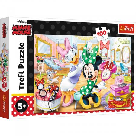 Puzzle Trefl 100 Minnie la salonul de infrumusetare [0]
