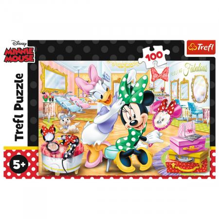 Puzzle Trefl 100 Minnie la salonul de infrumusetare [2]