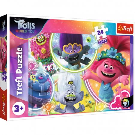 Puzzle Trefl 24 Maxi Lumea muzicala a Trolilor [0]