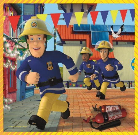 Puzzle Trefl 3in1 Pompierul Sam [1]