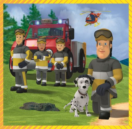 Puzzle Trefl 3in1 Pompierul Sam [2]