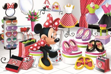 Puzzle Trefl 60 Minnie la shopping [1]
