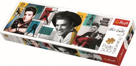 Puzzle Trefl panorama 500 colaj Elvis Presley [0]