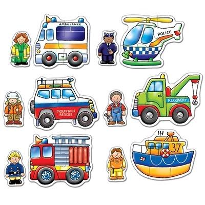 Set 6 puzzle Echipa de salvare (2 si 3 piese) RESCUE SQUAD [3]