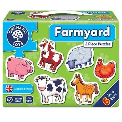 Set 6 puzzle Ferma (2 piese) FARMYARD [2]