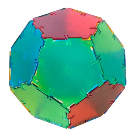 Set constructii Polydron Translucent 24 pentagoane [0]