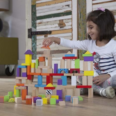 Set de 100 de cuburi din lemn [2]
