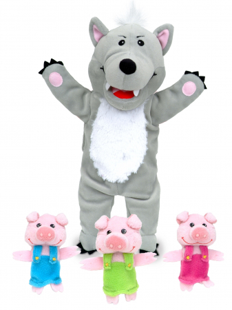 Set Papusa si marionete Cei 3 purcelusi / Big Bad Wolf and the Three Little Pigs - Fiesta Crafts [4]