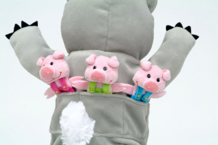 Set Papusa si marionete Cei 3 purcelusi / Big Bad Wolf and the Three Little Pigs - Fiesta Crafts [3]