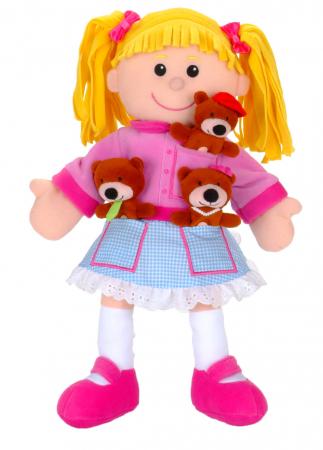 Set papusa si marionete Goldilocks si cei 3 ursuleti / Goldilocks and the Three Bears - Fiesta Crafts [2]