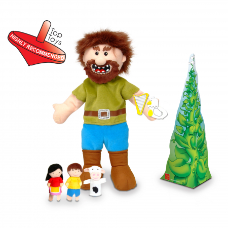 Set Papusa si marionete Jack si vrejul de fasole / Jack and the Beanstalk Hand - Fiesta Crafts [1]