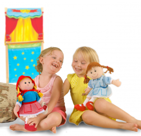Set Papusa si marionete Scufita Rosie / Red Riding Hood - Fiesta Crafts [3]