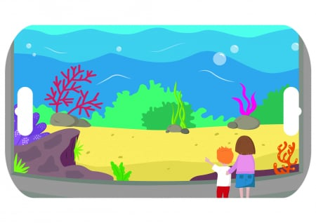 Stickere acvariu / Aquarium - Fiesta Crafts [3]