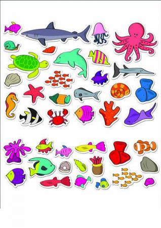Stickere acvariu / Aquarium - Fiesta Crafts [5]