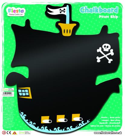 Tabla corabia piratilor / Pirate Ship Chalkboard - Fiesta Crafts [1]