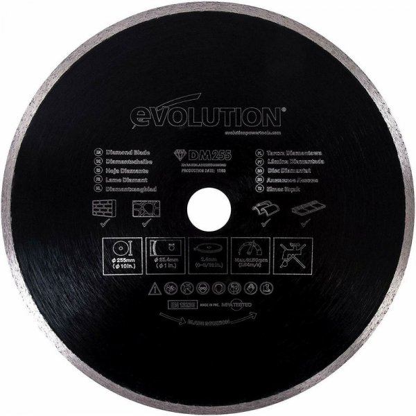 Disc pentru fierastrau circular, taiere marmura, piatra Evolution EVORAGEBLADE210DIAMOND-4831, O210x25.4 mm( 510685)
