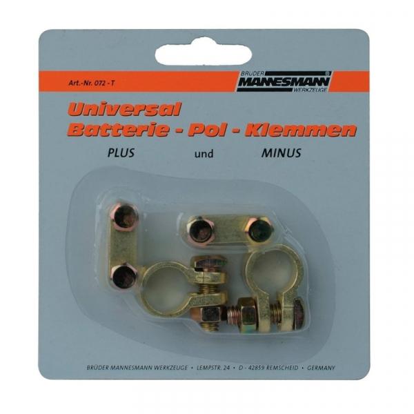 Set borne baterie auto Mannesmann M072-T, 2 bucati B.MANNESMANN