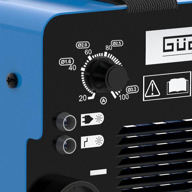 Aparat de sudura tip invertor GIS100 Guede GUDE20023, 10 - 100 A, 4.37 kVA 3