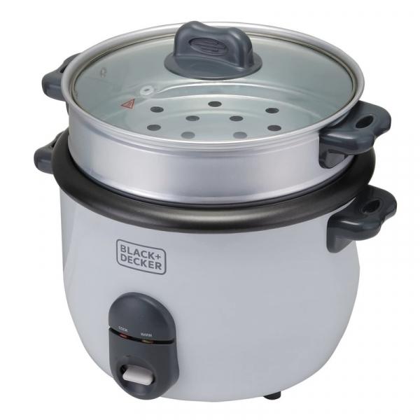 Aparat pentru gatit orez RC1860 Black Decker B+DES9680010B, 700 W, 1.8 litri poza casaidea 2021