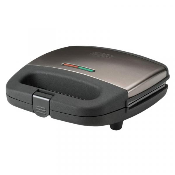 Sandwich maker BXSA750E Black Decker B+DES9680060B, 750 W casaidea.ro