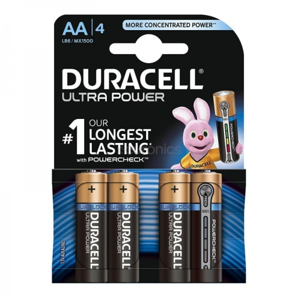 Baterie DURACELL AA X 4 bucati DURALOCK Ultra power( 469075)