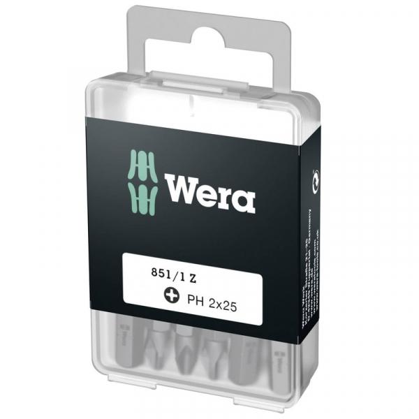 Biti pentru surubelnite Phillips Wera WERA05072401005, PH2X25 mm, 25 bucati WERA